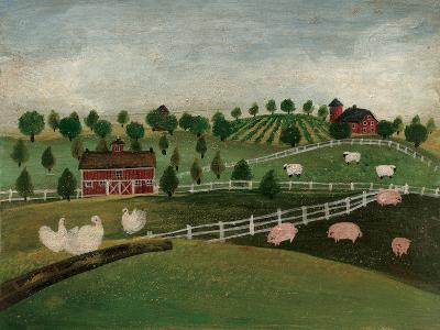 A Day at the Farm I-David Cater Brown-Art Print