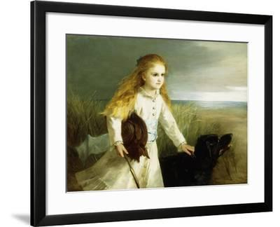 A Day at the Seashore-Otto Leyde-Framed Giclee Print