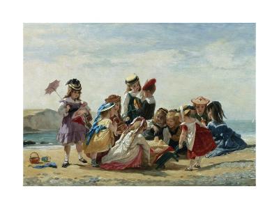 A Day at the Seaside-Timoleon Lobrichon-Giclee Print