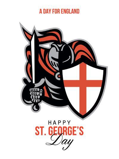 A Day for England Happy St George Greeting Card-patrimonio-Art Print