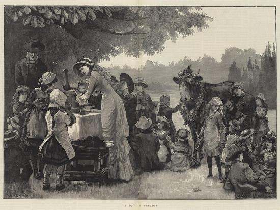 A Day in Arcadia-William Heysham Overend-Giclee Print