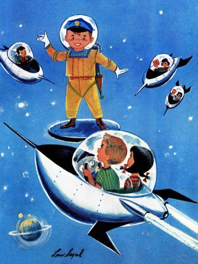 A Day in Outerspace - Jack and Jill, September 1957-Lou Segal-Giclee Print