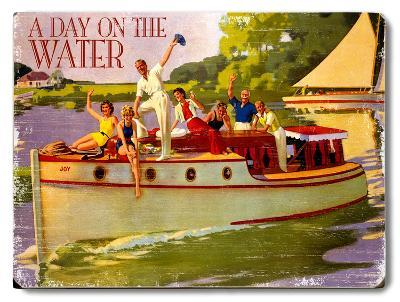 A Day on the Water--Wood Sign