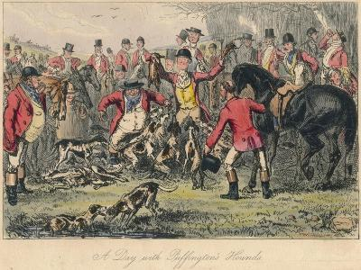 A Day with Puffingtons Hounds, 1865-Bradbury, Evans and Co-Giclee Print