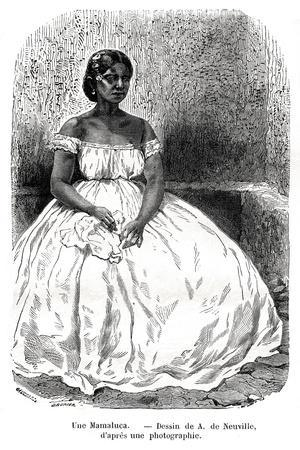 Une Mamaluca, Brazil, 19th Century