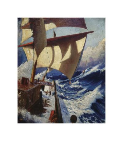 A Deck Scene-Herbert Barnard John Everett-Premium Giclee Print