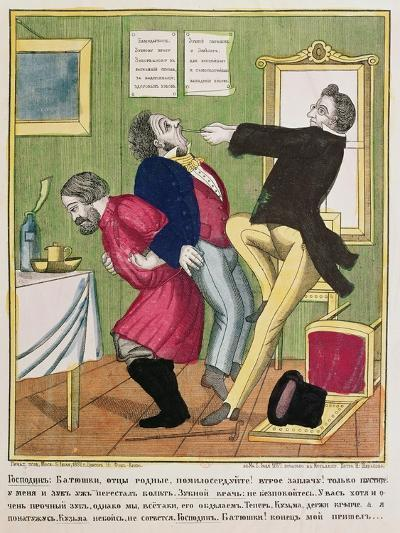 A Dentist Pulling a Tooth, 1857--Giclee Print