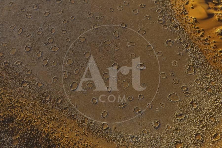 A Desert Landscape Dotted with Mysterious Fairy Circles, Seen from a Hot  Air Balloon Photographic Print by Jonathan Irish | Art com