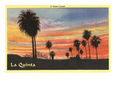 A Desert Sunset, La Quinta, California--Art Print