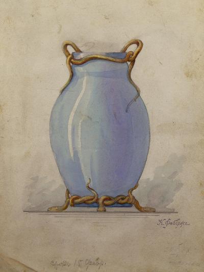 A Design for an Oviform Blue Vase--Giclee Print