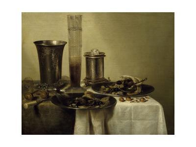 A Dessert, Previously Called Still Life with Silver Tumbler. 1637-Willem Claesz Heda-Giclee Print