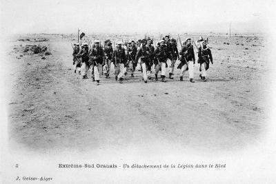 A Detachment of the French Foreign Legion in the Sahara Desert, Algeria, C1905-J Geiser-Giclee Print