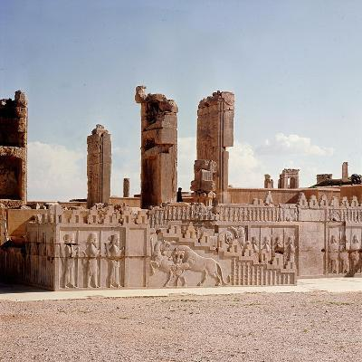 A Detail of a Relief Carving on the Staircase Leading to the Tripylon at Persepolis, Depicting a…--Giclee Print