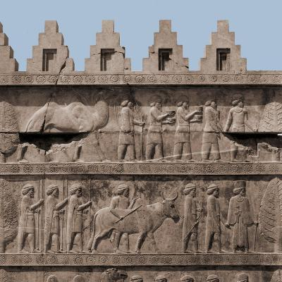 A Detail of the Reliefs on the Stairways Leading to the Audience Hall of Darius and Xerxes--Giclee Print