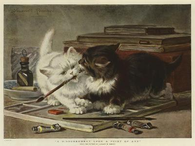 A Disagreement Upon a Point of Art-Henriette Ronner-Knip-Giclee Print