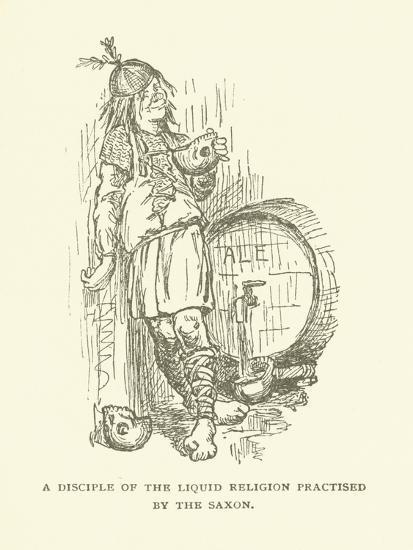 A Disciple of the Liquid Religion Practised by the Saxon--Giclee Print