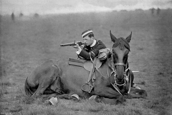 A Dismounted Lancer at a Skirmishing Display, 1896-Gregory & Co-Giclee Print
