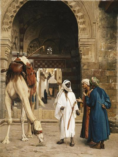 A Dispute Among Arabs; Dispute D'Arabes, 1872-Jean Leon Gerome-Giclee Print