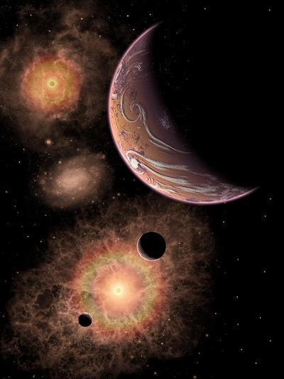 A Distant Alien Solar System in Our Milky Way Galaxy-Stocktrek Images-Art Print