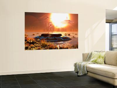 A Distant Alien World That Orbits Close to its Sun-Stocktrek Images-Wall Mural
