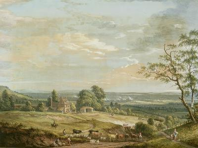A Distant View of Maidstone, from Lower Bell Inn, Boxley Hill-Paul Sandby-Giclee Print