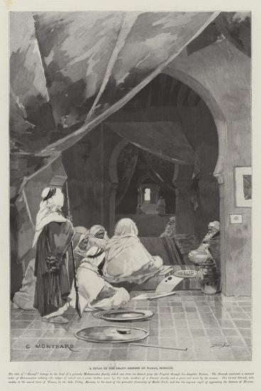 A Divan of the Grand Shereef of Wazan, Morocco-Charles Auguste Loye-Giclee Print