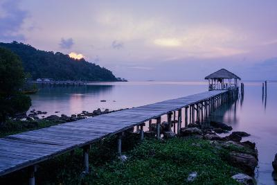 A Dock on an Island in Cambodia's Kompong Som Region-Hannah Reyes-Photographic Print