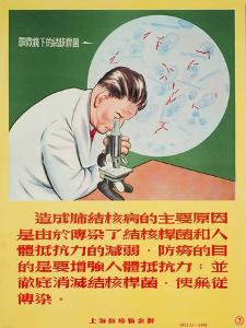 A Doctor Looks into a Microscope of Mycobacterium Tuberculosis