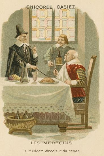 A Doctor Telling a Man What He Should Eat--Giclee Print