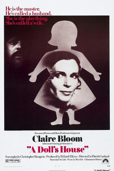 A Doll's House, Anthony Hopkins, Claire Bloom, 1973--Art Print