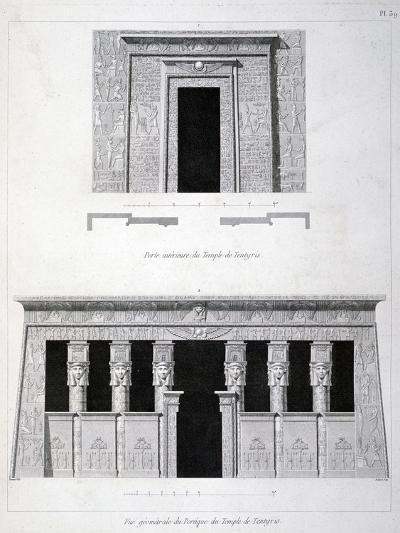 A Doorway and Gantry at the Temple of Tentyris, 19th Century-Vivant Denon-Giclee Print