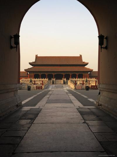 A Doorway to the Hall of Supreme Harmony in the Forbidden City-xPacifica-Photographic Print