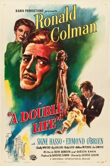 A Double Life, Signe Hasso, Ronald Colman, Shelley Winters, 1947--Art Print