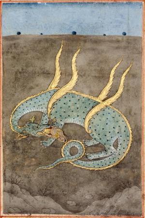 A Dragon Devouring a Woman--Giclee Print