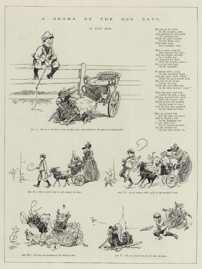 A Drama of the Dog Days--Giclee Print