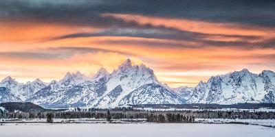 A Dramatic Sky Above Teton National Park-Charlie James-Photographic Print