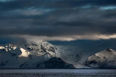 A Dramatic Sunrise over Mountains in Iceland-Alex Saberi-Photographic Print