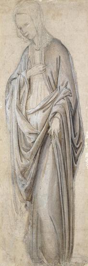 A Drapery Study for a Virgin Annunciate-Francesco Botticini-Giclee Print