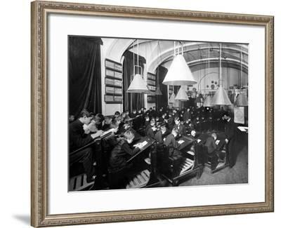 A Drawing Class at the Imperial Academy of Art, Being Taught by Leonty Benois--Framed Photographic Print