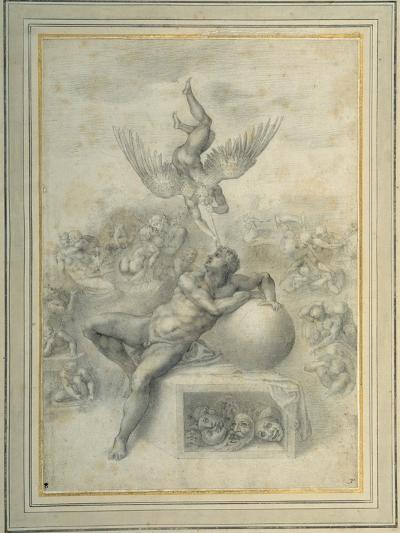 A Dream of Human Life', after Michelangelo Buonarroti-Michelangelo Buonarroti-Giclee Print