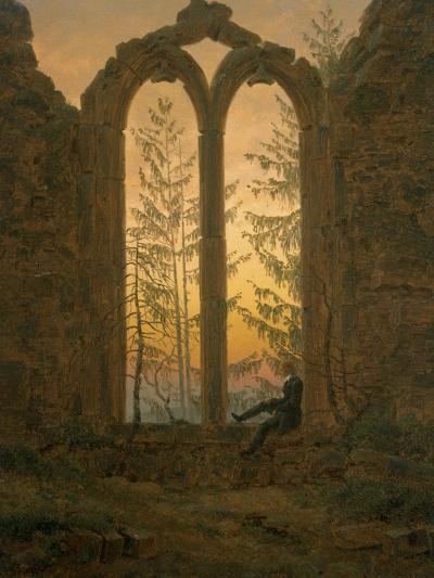 A Dreamer-Caspar David Friedrich-Giclee Print
