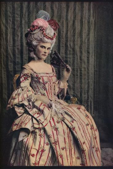 'A dress of charming proportion in beautiful French brocade. Period 1775-85', c1913-Unknown-Photographic Print