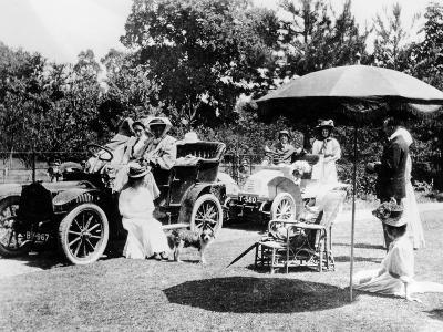 A Driving Party, (Early 1900s)--Photographic Print
