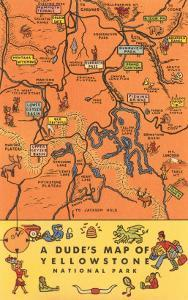 A Dude's Map of Yellowstone National Park