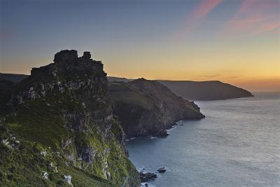A Dusk View of the Cliffs at the Valley of Rocks, Lynton, Exmoor National Park, Devon-Nigel Hicks-Photographic Print