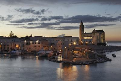 A Dusk View of the Fishing Harbor of Trani-Nigel Hicks-Photographic Print