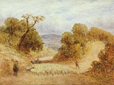 A Dusty Road, 1868-John Linnell-Giclee Print