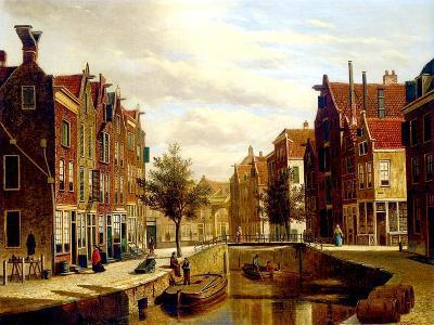 A Dutch Canal-Willem Koekkoek-Giclee Print