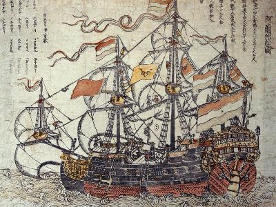 A Dutch Ship-Japanese School-Giclee Print