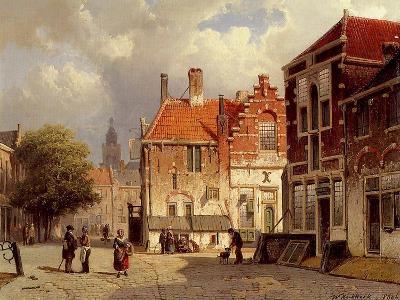 A Dutch Town Square, 1860-Willem Koekkoek-Giclee Print